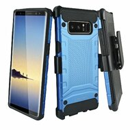 Eclipse Legend Anti Shock Hybrid Armor Case and Holster for Samsung Galaxy Note 8 - Blue