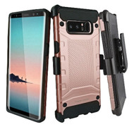 *Sale* Eclipse Legend Anti Shock Hybrid Armor Case and Holster for Samsung Galaxy Note 8 - Rose Gold