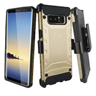 Eclipse Legend Anti Shock Hybrid Armor Case and Holster for Samsung Galaxy Note 8 - Gold