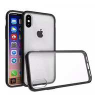 Polymer Transparent Hybrid Case for iPhone X - Black