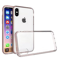 *Sale* Polymer Transparent Hybrid Case for iPhone X - Rose Gold