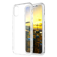 Shockproof Crystal TPU Case for iPhone X - Clear