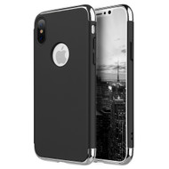 GripTech 3-Piece Chrome Frame Slim Case for iPhone X - Black