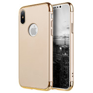 GripTech 3-Piece Chrome Frame Slim Case for iPhone X - Gold