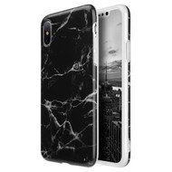 Marble IMD Soft TPU Case for iPhone X - Black