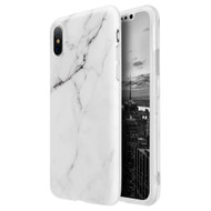 Marble IMD Soft TPU Case for iPhone X - White