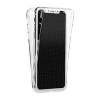 Anti-Scratch 360 Front and Back Full Body Protection Transparent TPU Case for iPhone X - Clear