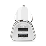 HyperGear High Power Dual USB 3.4A Car Charger - White