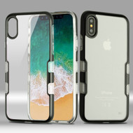 TUFF Panoview Transparent Hybrid Case for iPhone X - Black