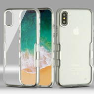 TUFF Panoview Transparent Hybrid Case for iPhone X - Silver