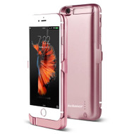 Power Bank Battery Case 5800mAh with External USB Charging Port for iPhone 6 / 6S - Rose Gold