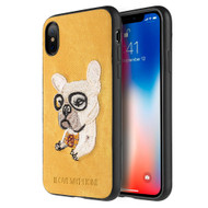 *Sale* Adorable Puppy Embroidery Case for iPhone X - French Bulldog