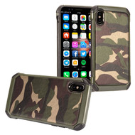 Tough Anti-Shock Hybrid Case for iPhone X - Camouflage