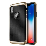 *Sale* Tough Elegance Bumper Frame Hybrid Case for iPhone X - Gold