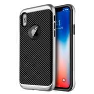 *SALE* Tough Elegance Bumper Frame Hybrid Case for iPhone X - Silver