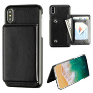 Pocket Wallet Case with Card Stand for iPhone X - Black