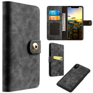 *SALE* Luxury Coach Lite Series Leather Wallet with Removable Magnetic Case for iPhone X - Black