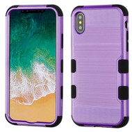 *Sale* Military Grade Certified Brushed TUFF Hybrid Armor Case for iPhone X - Purple