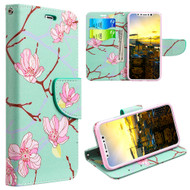 *Sale* Designer Graphic Leather Wallet Stand Case for iPhone X - Japanese Blossom