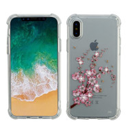 Klarity Premium Transparent Anti-Shock TPU Case for iPhone X - Spring Flowers