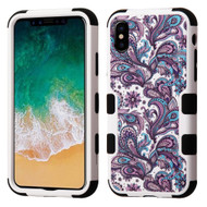Military Grade Certified TUFF Image Hybrid Armor Case for iPhone X - Persian Paisley