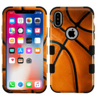 Military Grade Certified TUFF Image Hybrid Armor Case for iPhone X - Basketball