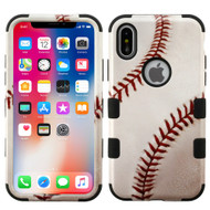 Military Grade Certified TUFF Image Hybrid Armor Case for iPhone X - Baseball