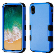 Military Grade Certified TUFF Hybrid Armor Case for iPhone X - Blue
