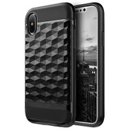 Diamond Wave Bumper Frame Hybrid Case for iPhone X - Black