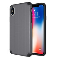 Titan Anti-Shock Hybrid Protection Case for iPhone X - Grey