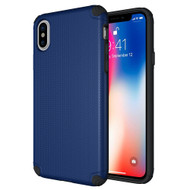 Titan Anti-Shock Hybrid Protection Case for iPhone X - Navy Blue