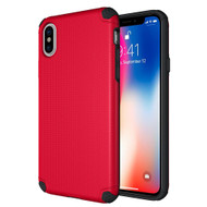 Titan Anti-Shock Hybrid Protection Case for iPhone X - Red