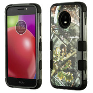 Military Grade Certified TUFF Image Hybrid Armor Case for Motorola Moto E4 - English Oak Hunting Camouflage