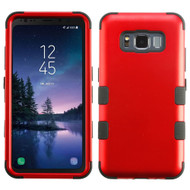 Military Grade Certified TUFF Hybrid Armor Case for Samsung Galaxy S8 Active - Red