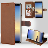 NeoUrban Leather Folio Wallet Case for Samsung Galaxy Note 8 - Brown