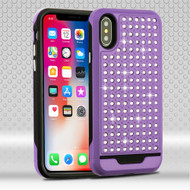 Luxury Bling Diamond Hybrid Case for iPhone X - Purple