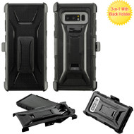 Tough Armor Hybrid Kickstand Case with Holster for Samsung Galaxy Note 8 - Black