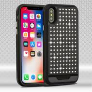 *Sale* Luxury Bling Diamond Hybrid Case for iPhone X - Black