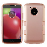 Military Grade Certified TUFF Hybrid Armor Case for Motorola Moto E4 - Rose Gold