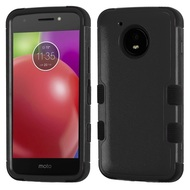 Military Grade Certified TUFF Hybrid Armor Case for Motorola Moto E4 - Black
