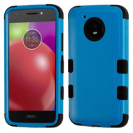 Military Grade Certified TUFF Hybrid Armor Case for Motorola Moto E4 - Blue