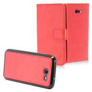 2-IN-1 Leather Wallet with Detachable Magnetic Case for Samsung Galaxy J3 (2017) / J3 Emerge / J3 Prime - Red