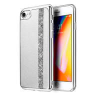 *Sale* Diamond Belt Collection Electroplated TPU Case for iPhone 8 / 7 - Silver