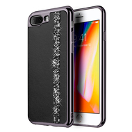 Diamond Belt Collection Electroplated TPU Case for iPhone 8 Plus / 7 Plus - Black