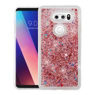Quicksand Glitter Transparent Case for LG V30 / V30+ - Rose Gold