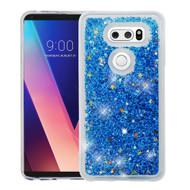 Quicksand Glitter Transparent Case for LG V30 / V30+ - Blue