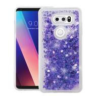 Quicksand Glitter Transparent Case for LG V30 / V30+ - Purple