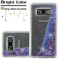 Quicksand Glitter Transparent Case for Samsung Galaxy S8 Active - Purple