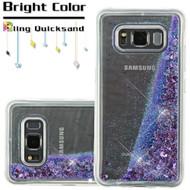 Quicksand Glitter Transparent Case for Samsung Galaxy S8 Active - Purple