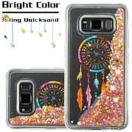 Quicksand Glitter Transparent Case for Samsung Galaxy S8 Active - Dreamcatcher